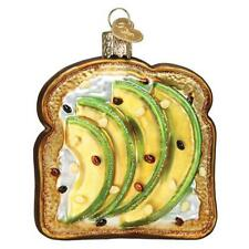 Old World Christmas AVOCADO TOAST (32442)N Glass Ornament w/ OWC Box