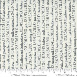 Fresh Fig Favorites Words Ivory Black by Fig Tree for Moda 1/2 Yard 20414 11