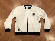 Adidas Basketball TMac Tracy McGrady White Bomber Jacket Mens 3XL AH6801 Rare
