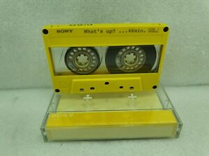 SONY WHAT'S UP? ...46 MIN.TYPE 1 YELLOW CASSETTE TAPE VINTAGE JAPAN--5332713