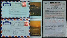 HONG KONG QE2 1967-68 ANNIGONI on AIRLETTERS HARBOUR ILLUST + FASHION...2 ITEMS