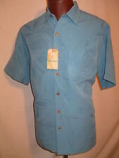 CARIBBEAN Bluejay BLUE Textured Short Sleeve Shirt - XL - NWT $69