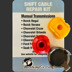 Chevrolet Cruze Manual Transmission Shift Cable Repair Kit w 2 bushings Easy