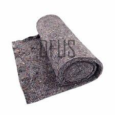 Black Needled Wool Felt 1 metre. Firm upholstery felt * wadding