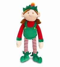 Keel Toys DANGLE LEGS CHRISTMAS Girl ELF 12cm Velcro Hands PLUSH NEW with Tags