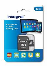 Integral 16GB Class 10 UHS-I U1 microSDHC Memory Card for SmartPhones & Tablets