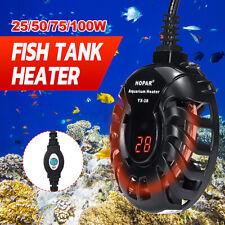 Submersible Aquarium Fish Tank Heater Thermostat Gauge Tropical LED Lighting  c