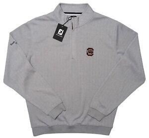 FOOTJOY South Carolina Gamecocks 1/2 Zip Pullover Sweater Gray Large L ~ New