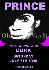 Prince Concert Poster Pairc Ui Caoimh,Cork,Ireland 1990 A3 size repro..