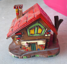 Vintage 1960s Sankyo Japan Wood German Cottage House Music Box