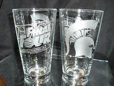 2015 FINAL FOUR MICHIGAN STATE SPARTANS ETCHED 16 oz PINT GLASSES (2)