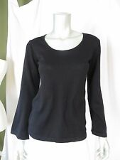 SILVANA S 100% Extra Fine Merino Wool Super Thin Bell Sleeves Pullover Sweater
