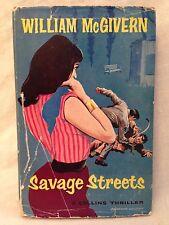 William McGivern - Savage Streets - 1st/1st 1960 Collins in Original Jacket