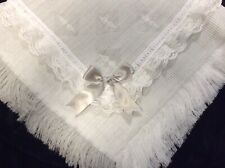 Baby Frilly Shawl Grey And White