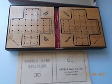 Double Dare Solitaire Game in Box, Wooden Game Boards, Are-Jay Games, Complete