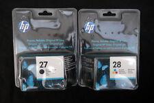 Genuine Original HP 27 + HP 28 Black & Colour Ink Cartridges