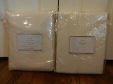 2 Pottery Barn EMERY LINEN/COTTON DRAPEs panels cotton lined 50 X 96 ivory New