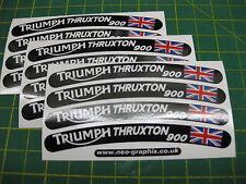 12 Triumph Thruxton 900 Rueda Llanta pegatinas con la bandera de la Unión