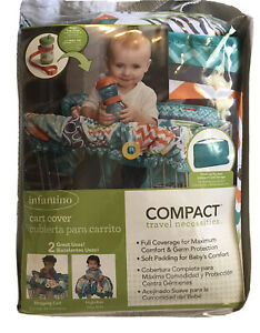 Infantino Compact Cart Cover & Bonus Sippy Cup Strap 2 in 1 GERM PROTECTION
