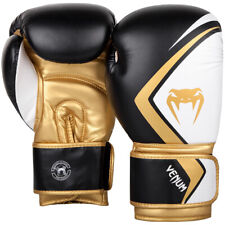 Venum Contender 2.0 Training Boxing Gloves - Black/White/Gold
