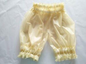 Gummi rubber Latex Pants Transparent Loose Pleated Swim Club Shorts