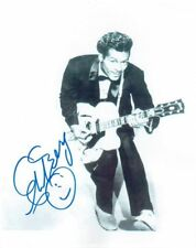 CHUCK BERRY - Signed B/W card-stock photograph