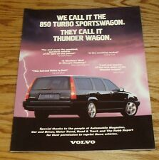 Original 1994 Volvo 850 Turbo Sportswagon Sales Brochure 94