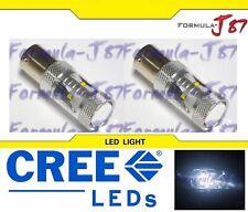 CREE LED Light 30W BA15s 1141 White 5000K Two Bulbs Signal Park Brake Tail Stop