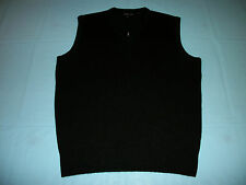 NWT ZACHARY SCOTT Black V-Neck Sweater Vest SMALL Acrylic Cashmere Feel Mens NEW