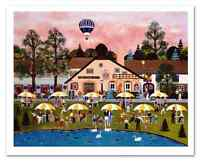 "Jane Wooster Scott-""Pond at the Inn"" Ltd Ed Lithograph, Hand Signed+COA 199/925"