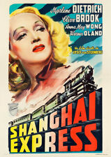 SHANGHAI EXPRESS 1932 Marlene Dietrich – Reproduction Movie Poster Art, Italian