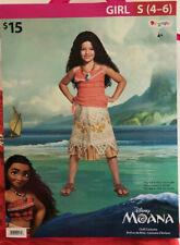 Halloween Princess Dress Up Outfit Disney Moana Child Costume Girl Small 4-6 Gy