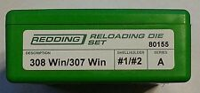 80155 REDDING 308 WINCHESTER/307 WINCHESTER DIE SET - BRAND NEW - FREE SHIPPING