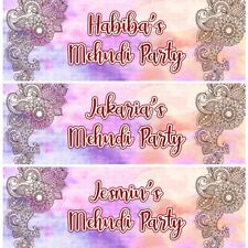 2 Personalised Mehndi Wedding Party Celebration Banners Decoration Posters