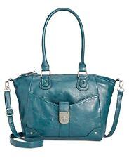 Style & Co Twistlock Small Satchel (Blue)