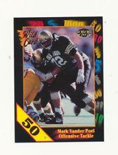 1991 Wild Card Football 50 Stripe Set Break #57 Mark Vander Poel