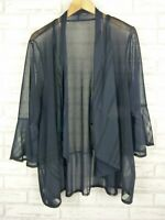 TS jacket navy blue size 18? Cardigan sheer