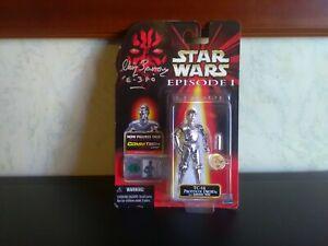 """Star Wars Episode 1 ~3.75""""Inch TC-14 Action Figure Chris Parsons Autograph (New)"""