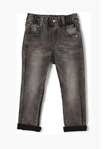 S.OLIVER Jungen Jeans / Hose mit Stretch und Gummibund Shawn Gr. 122 grau NEU