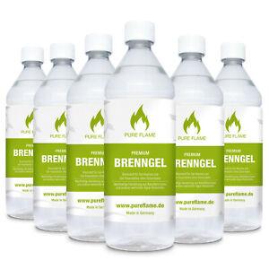 Brenngel 6-30 Liter für Gel Kamine + Gel Feuerstellen in 1L. Flaschen ab 2,90€/L