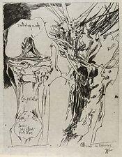 HORST JANSSEN - Knie & Baum - facies articularis patellae - Radierung 1985
