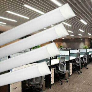 LED Batten Tube Fitting Light Wall Ceiling Mounted Bright 2ft 3ft 4ft 5ft 6ft