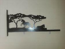 """Wild Horse Metal Art Decorative Sign Hanger Bracket 24"""" Sign Holder"""