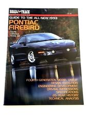 1993 Pontiac Firebird Trans Am 80-page Sales Brochure Guide by Road Track