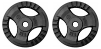 2x 5kg Cast Iron Tri-Grip Weight Plates Set - Barbell Dumbbell Lifting Workout