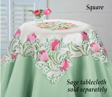 Embroidered Floral Tulip Table Linens