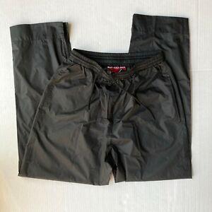 Sun Mountain Golf Womens M Cirrus Rain Pants Waterproof Black Leg Zips Pockets