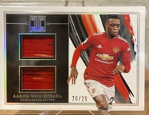 2020-21 IMPECCABLE SOCCER AARON WAN-BISSAKA DUAL PATCH #20/25 MAN UNITED DM-AWB