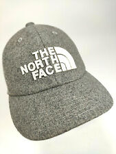 GREY & WHITE THE NORTH FACE BALL CAP HAT Heavy Warm Acrylic EUC!