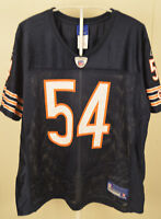 Reebok Chicago Bears Jersey #54 Brian Urlacher NFL Youth Large (14-16) Blue